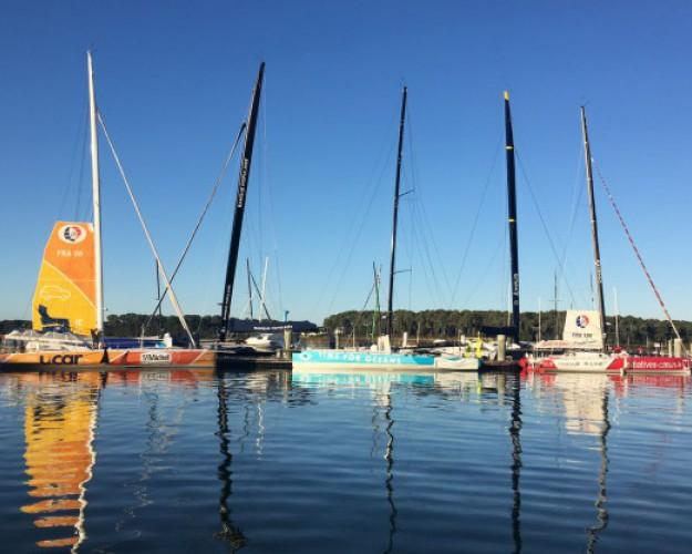 bateaux de course au ponton à Lorient