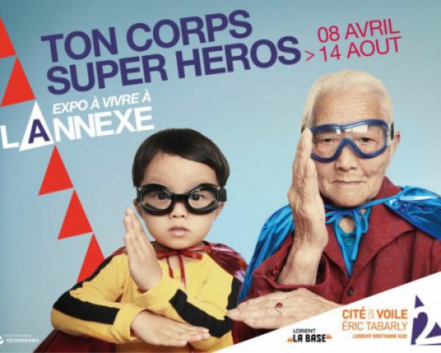 affiche exposition ton corps super héros